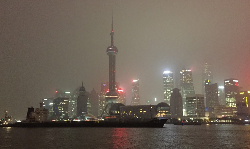 View of the Shanghai Pudong skyline, taken from the Bund